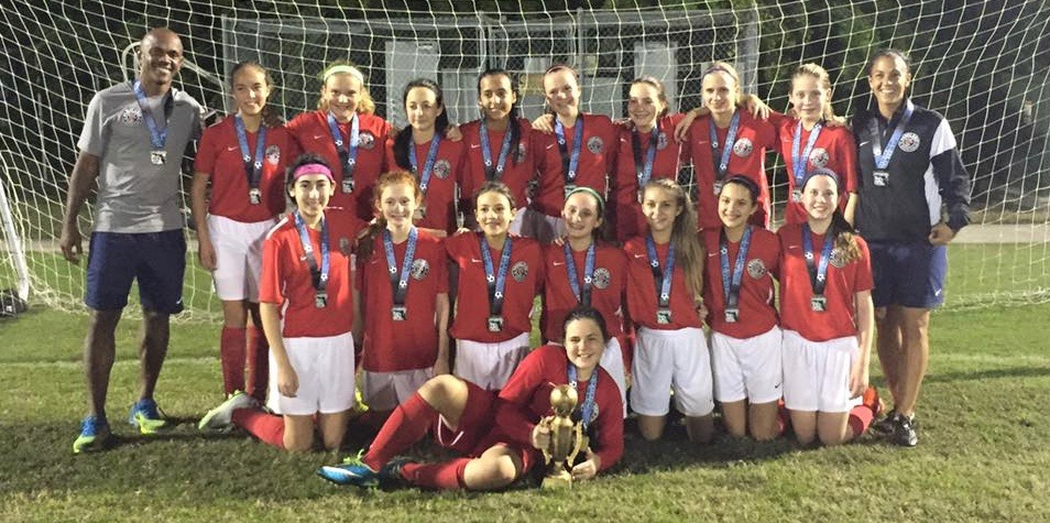 PSC U13 Girls Palm Beach League Champions Nov. 20, 2015