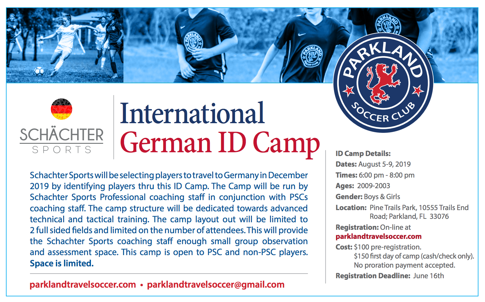 German ID Camp! REGISTER Today to hold your spot!