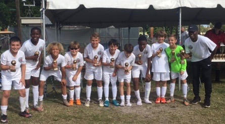 U11 Boys Red Plantation Tournament Champions