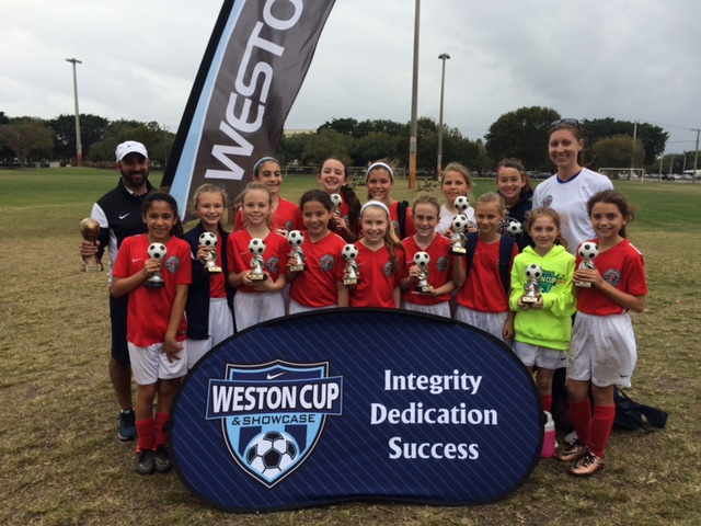 U11 Girls Palm Beach Soccer League & Weston Cup CHAMPIONS!