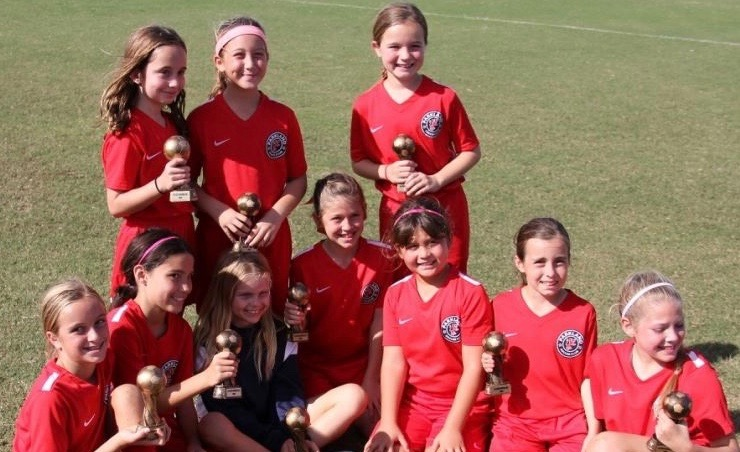U10 Girls Plantation Tournament Champions