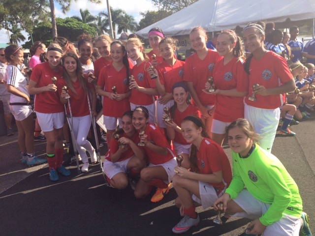 U13 Girls Plantation Tournament Finalists